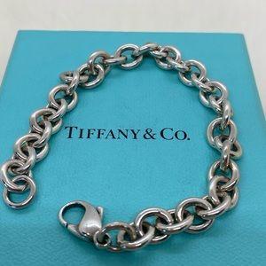 """Tiffany & Co. Rolo Link Bracelet 7.75"""" Silver"""